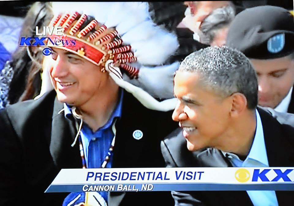 SRST Chairman Dave Archambault and President Obama